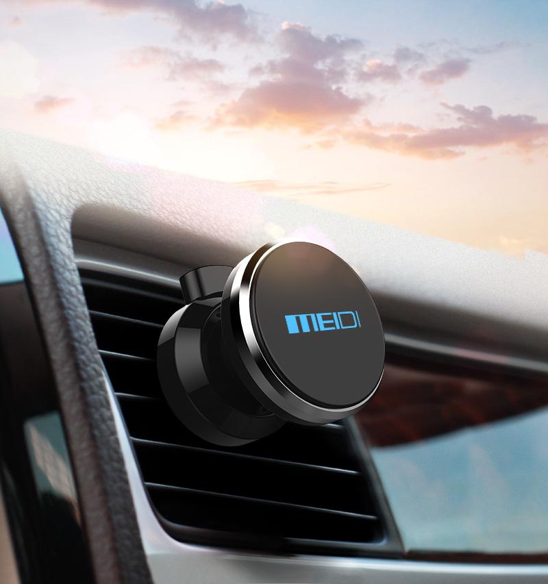 meidi автомобильный держатель телефона на 360 градусов регулируемые вентиляционные отверстия мовиль магнит держатель soporte для iPhone 6 с 7 мобильный автомобиля подставка для телефона