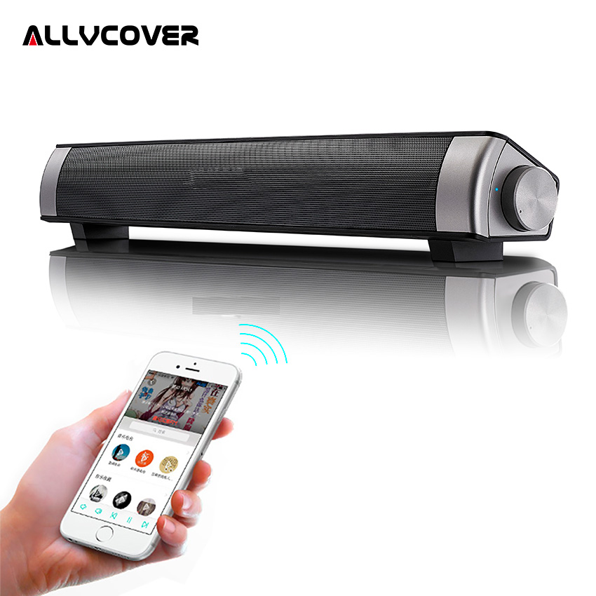 Allvcover Home Theater Bluetooth Speaker with BassUp Technology HIFI Subwoofer Stereo Wireless SoundBar Speaker + Remote Control