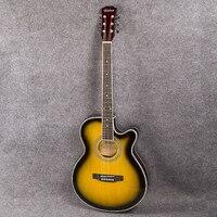 Электрогитара s 40 дюймов Акустическая гитара из липы закат цвет унисекс палисандр гриф гитара ra гитарные струны