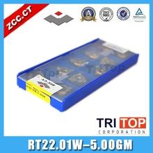 22ER 5.00GM ISO ZCC. CT gewinde schneider RT22.01W 5.00GM YBG201 Externes Threading insert schneidwerkzeuge