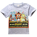 Boy T-Shirt 5 Freddys Tops Tees Boys Clothes Cartoon Children T Shirts Five Nights at Freddy's Clothing Camiseta Kids Clothes