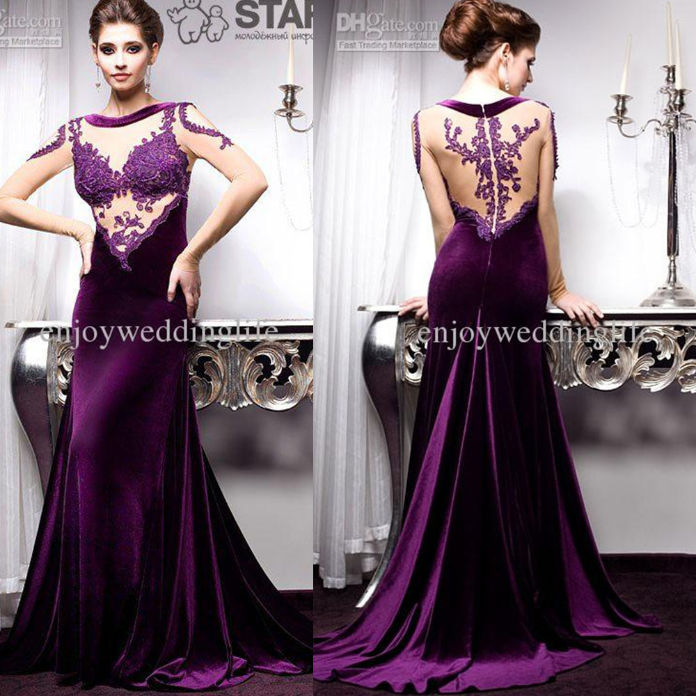 Aliexpress.com : Buy vestidos de fiesta mermaid dress purple lace ...