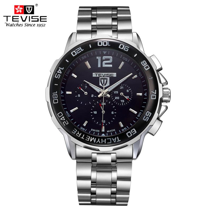 tevise автоматические деловые часы для мужчин самостоятельно ветер авто дата месяц неделя нержавеющая сталь световой аналоговые наручные 356