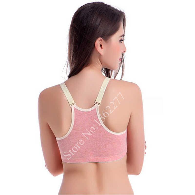 Bawełna biustonosz do karmienia piersią biustonosze dla kobiet w ciąży zapobiec ugięcia Sport uśpienia biustonosze matka ubrania bielizna