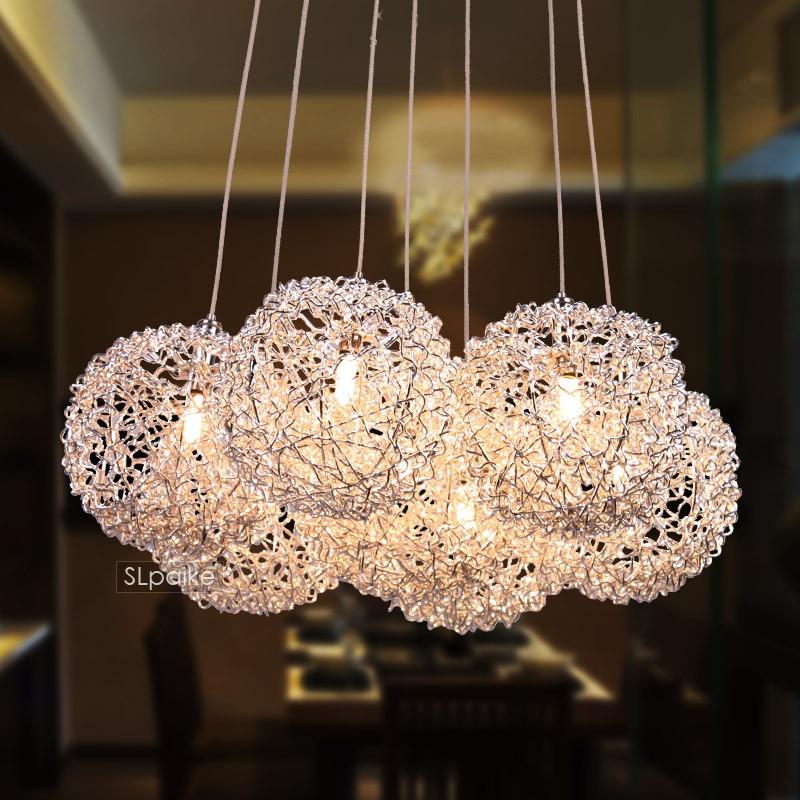 pendant light modern brief restaurant lights bedroom lamp aluminum wire lamp fashion FG541 2015 brief modern fashion circle pendant lights voltage 220 240v