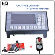 DDCSV1.1 500 KHz CNC 4-achsen Graviermaschine Controller Motion Control System G Code Schrittmotor-treiber + Elektronisches Handrad