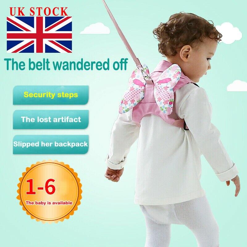 New Baby Child Kids Unisex Print Toddler Walking Safety Harness Rein Backpack Walker Strap UK 1-6T