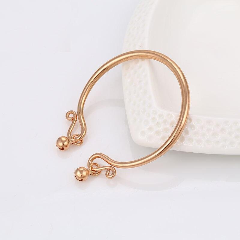 2017 Trendy rose gold color bracelet for kids children women