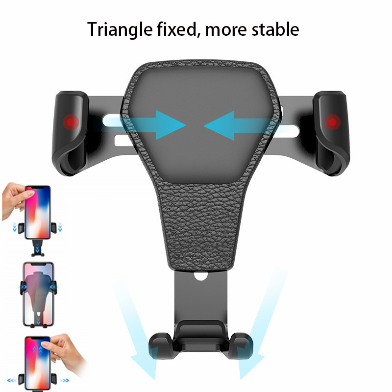 Universal Car Phone Holder Leather Gravity Car Bracket Air Vent Stand Mount For iPhone 8 XS XR Samsung Support Telephone Voiture Pakistan