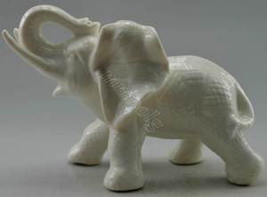 SIYAO Crafts Porcelain Carved Elephant Statue Halloween