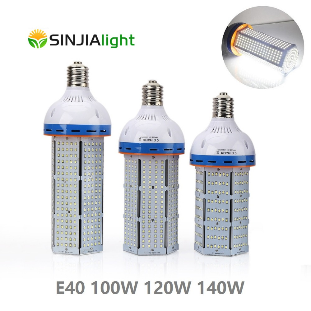 E40 LED Maïs Lumière 100 W 120 W 140 W Spotlight LED Lampe Maïs Ampoules Luminaire Lampada LED Éclairage SMD2835 blanc froid AC85-265V