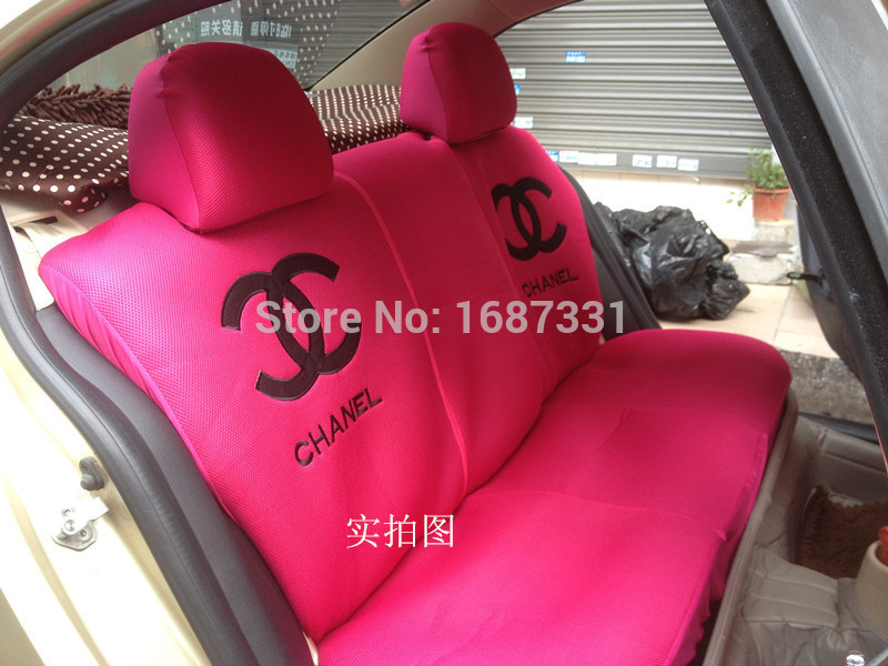 Pink Channel Ventilate Car Seat Covers Accessories For Car 5 Seats With Shoulder Pad Neck Pillows Steering Wheel Cover Accessories Beauty Accessories Runningaccessories Weapons Aliexpress