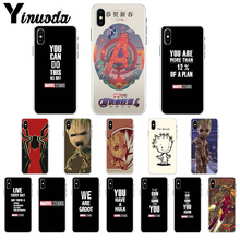 Yinuoda Marvel inspirational text DIY Painted Beautiful Phone Accessories Case for Apple iPhone7 8 6 6S Plus X XS MAX 5 5S SE XR
