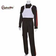 Cosplaydiy Movie Star Wars Imperial Tie Fighter Pilot Flight Suit Vest For Halloween Carnival Cosplay Costume Custom Made D0807