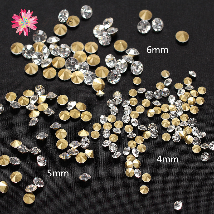 200pc lot 3mm 4mm 5mm 6mm Chatons Point Back Transparent Rhinestone Glass  Round Strass Shiny For Craft Jewelry Making Decoration-in Beads from  Jewelry ... d379ec07285a