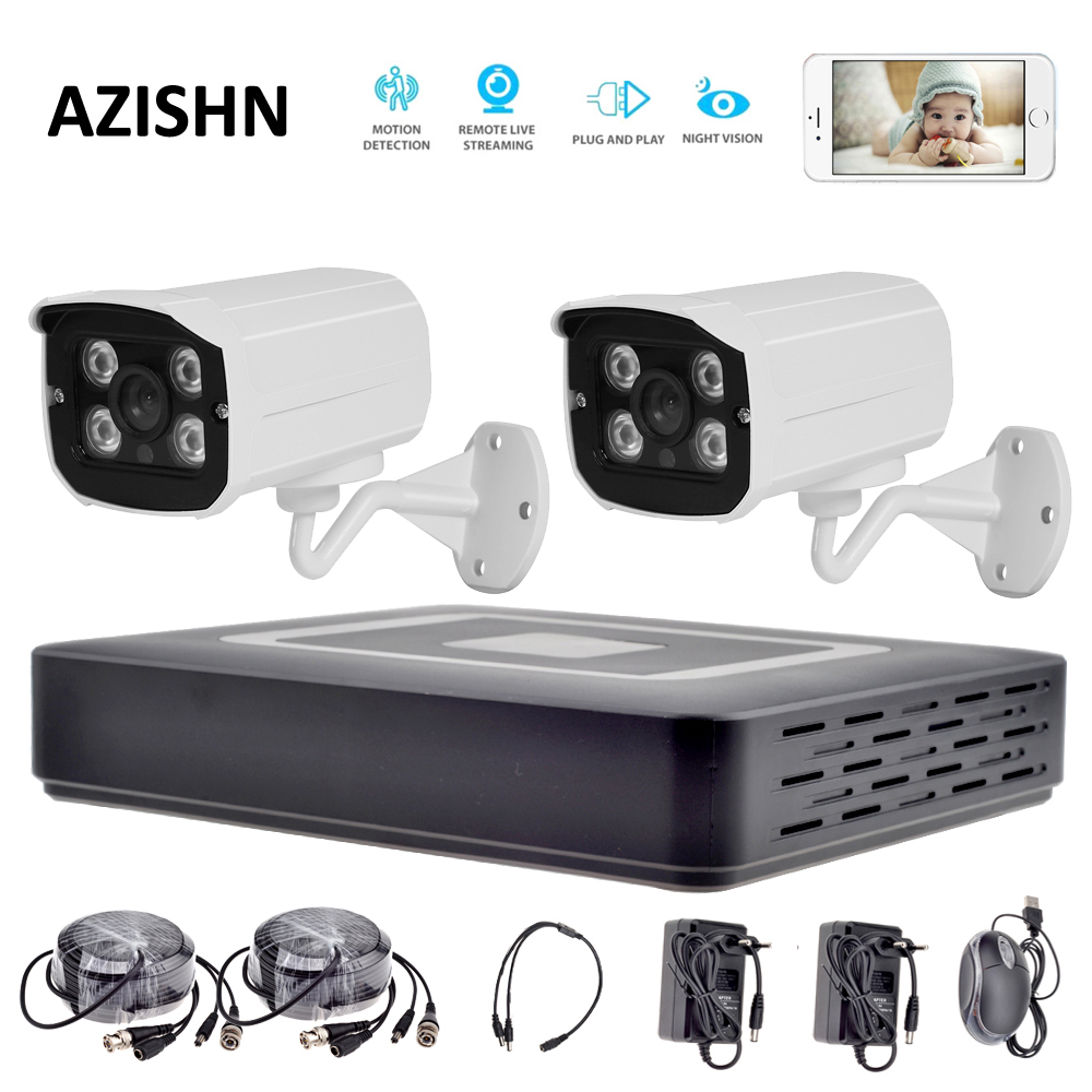 HD 4CH AHD CCTV System 1080P HDMI AHD DVR 2PCS 720P/1080P AHD metal Camera Outdoor Surveillance system security camera system security camera system hd 4ch cctv system 1080p hdmi ahd dvr 2pcs 720p 1080p ahd cameras cctv ir outdoor surveillance system