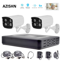 HD 4CH AHD CCTV System 1080P HDMI AHD DVR 2PCS 720P 1080P AHD Metal Camera