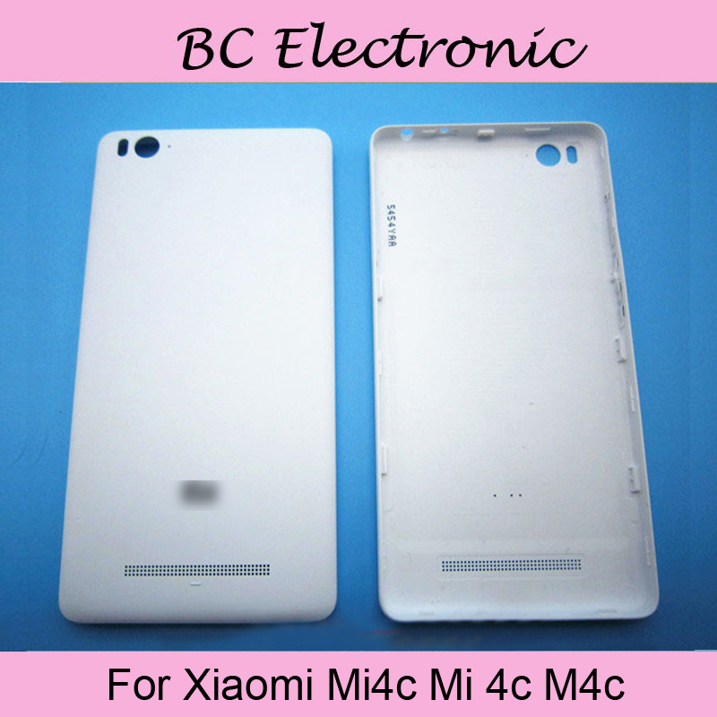 TOP Quality White Color Back Cover battery Door Case For XIAOMI mi4C mi 4C m4C Phone Parts Free shipping;2PCS/LOT