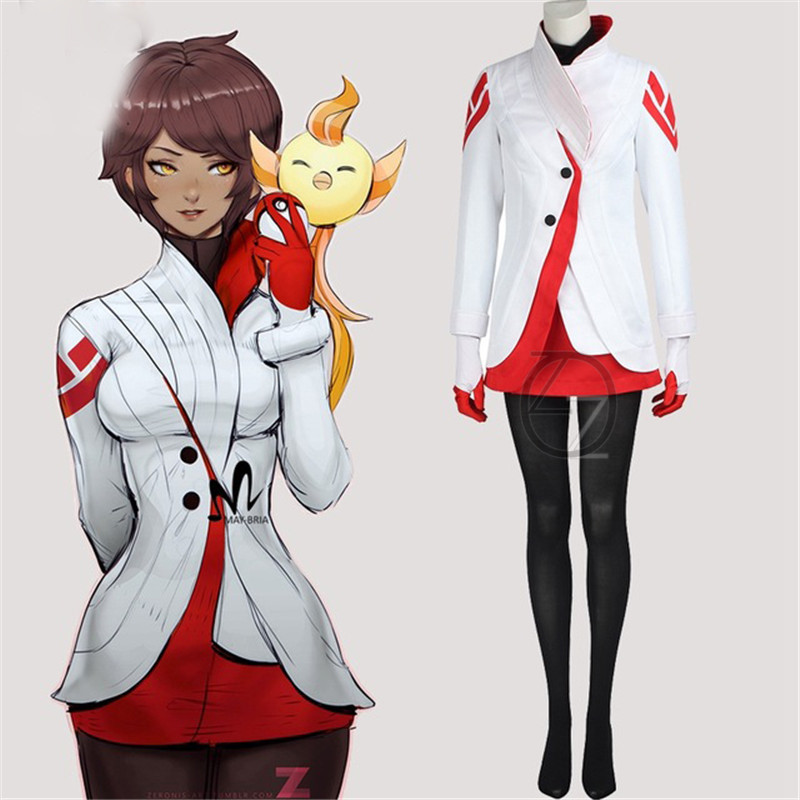 game pokemon cosplay Team valor leather Blanche cosplay costume Carnival Christmas costumes adult cosplay Pokemon Go costume