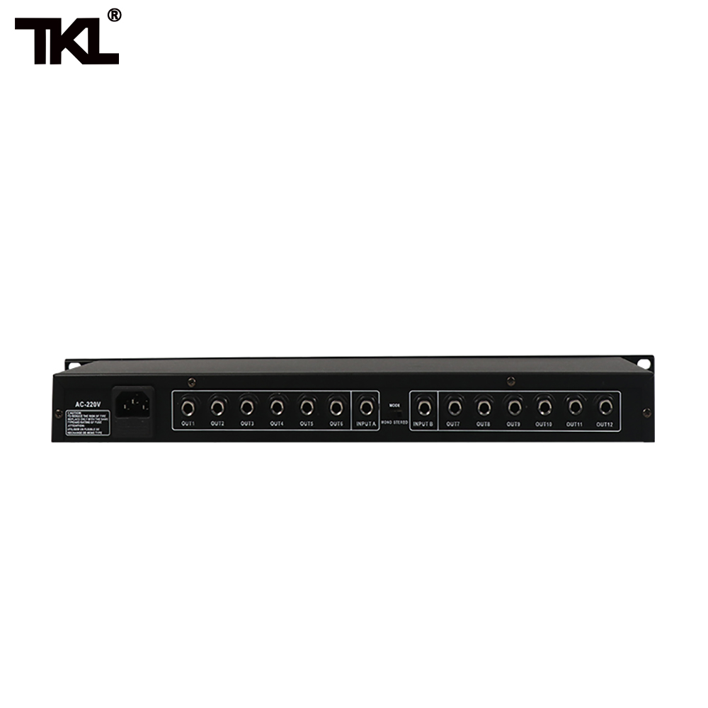 TKL FS206 Professional equipment Stereo Mono Audio Signal Splitter Amplifier Distributor 2 in 10 out XLR for stage in Stage Audio from Consumer Electronics