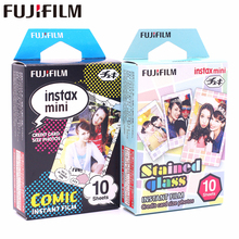 Fujifilm 20 sheets Instax Mini Stained glass + Comic Instant Film photo paper for 8 7s 25 50s 90 9 SP-1 SP-2 Camera