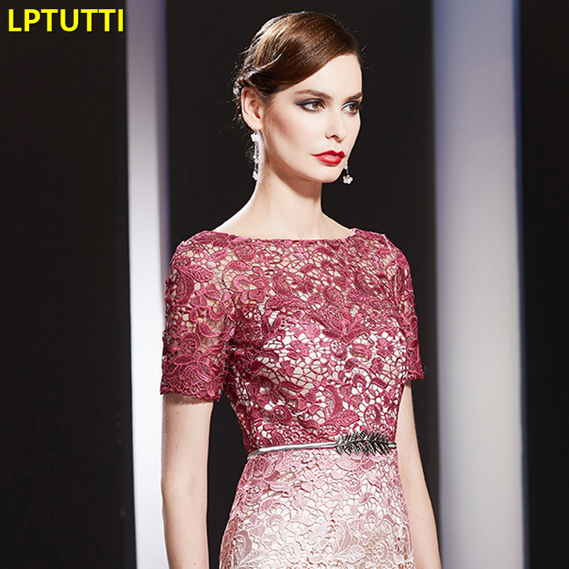 LPTUTTI Lace Gradient New Sexy Woman Social Festive Elegant Formal Prom Party Gowns Fancy Short Luxury Cocktail Dresses in Cocktail Dresses from Weddings Events