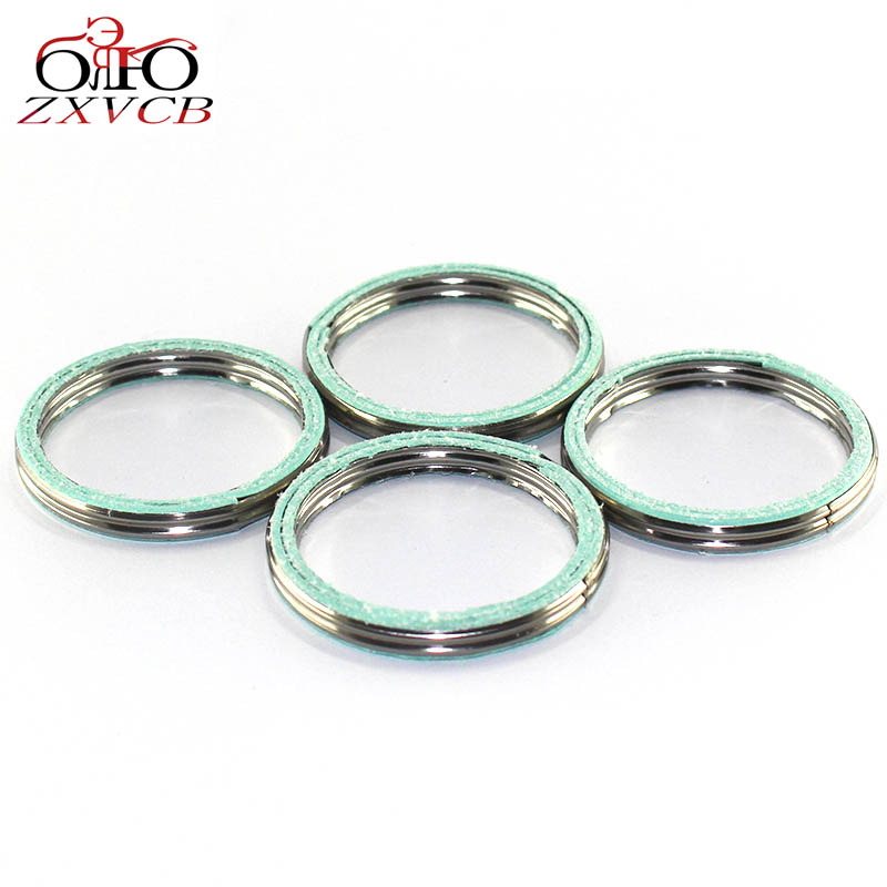 4 PCS FOR YAMAHA XVS1100 V-Star <font><b>XVS</b></font> <font><b>1100</b></font> XT 125 XT125J/K/KC 1982-1983 BW200 BW 200 Big Wheel 1985-1988 Exhaust Pipe Gasket Seal image