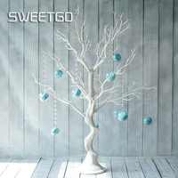Wedding Decoration Tree White Resin Simulation Tree With Macrons Pendants For Candy Bar Shop Window Display