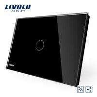 Black Pearl Crystal Glass Panel Smart Livolo Switch VL C901SR 12 US AU 2 Way