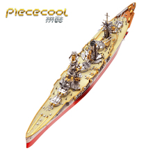 2019 Piececool Boat models 3D Metal Nano Puzzle FUSO Battleship Model Kits DIY 3D Laser Cutting Model Jigsaw Toys for Children chinese metal earth iconx 3d metal model kits 6 inch federation skyscraper 2 sheets military nano puzzles diy creative gifts