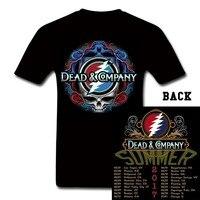 קונצרט מת והחברה קיץ Tour T חולצה Heavy Metal Band ג 'ון מאייר טי, גרייטפול דד טי גברים חולצת טי נשים