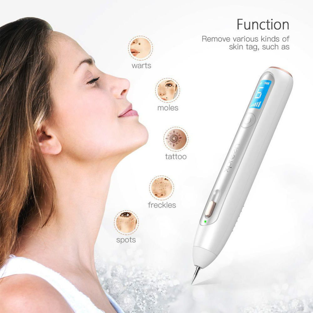 Destone Facare X1 Wireless Mole Freckle Dark Spots Tattoo Wart Removal Pen Skin Tag Spot Eraser with LED Screen Rechargeable