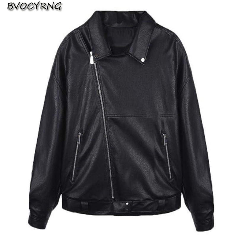 Winter Thickn Pu   Leather   Jacket Women Coat Short Korea Loose Female Clothing 2018 New Autumn and Winter High end   Leather   Parka