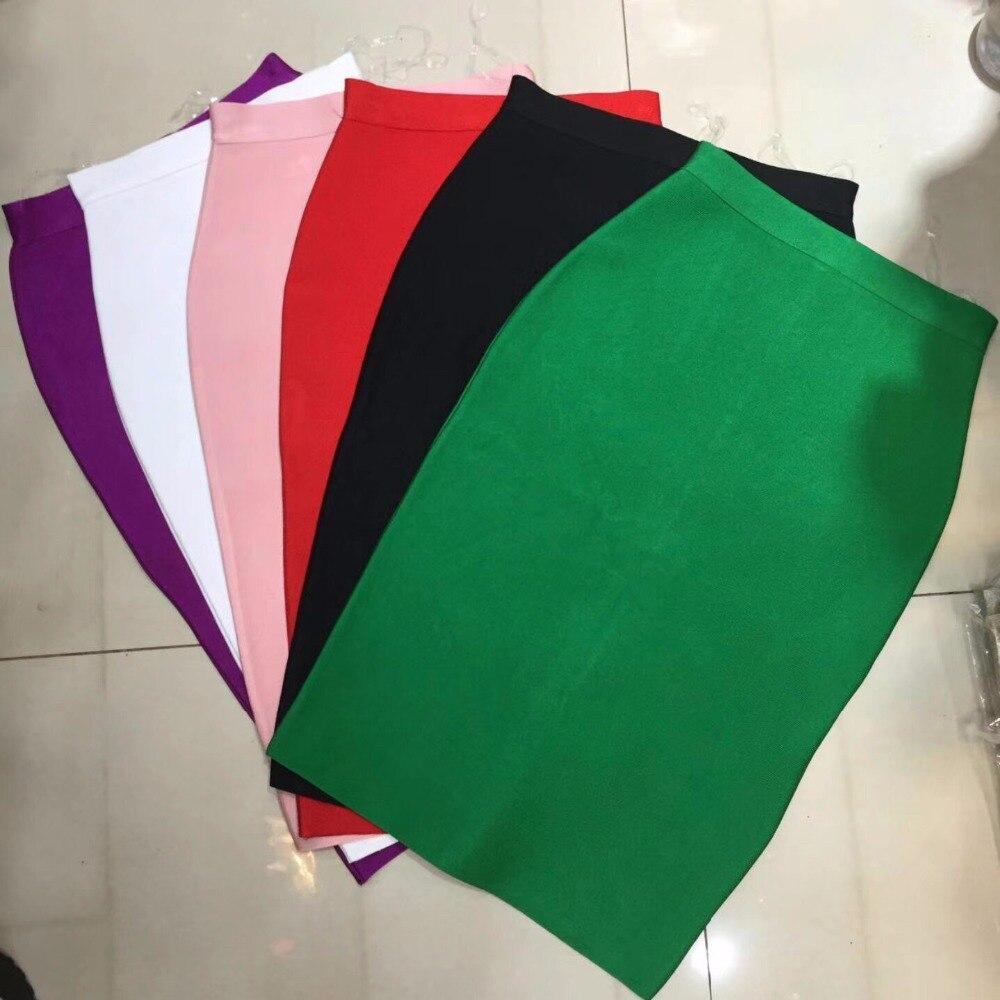 11 Farben Gelb Blau Bandage Bleistift Rock 2016 Neue Ankunft Großhandel Rot/schwarz/weiß/grün/rosa Nude