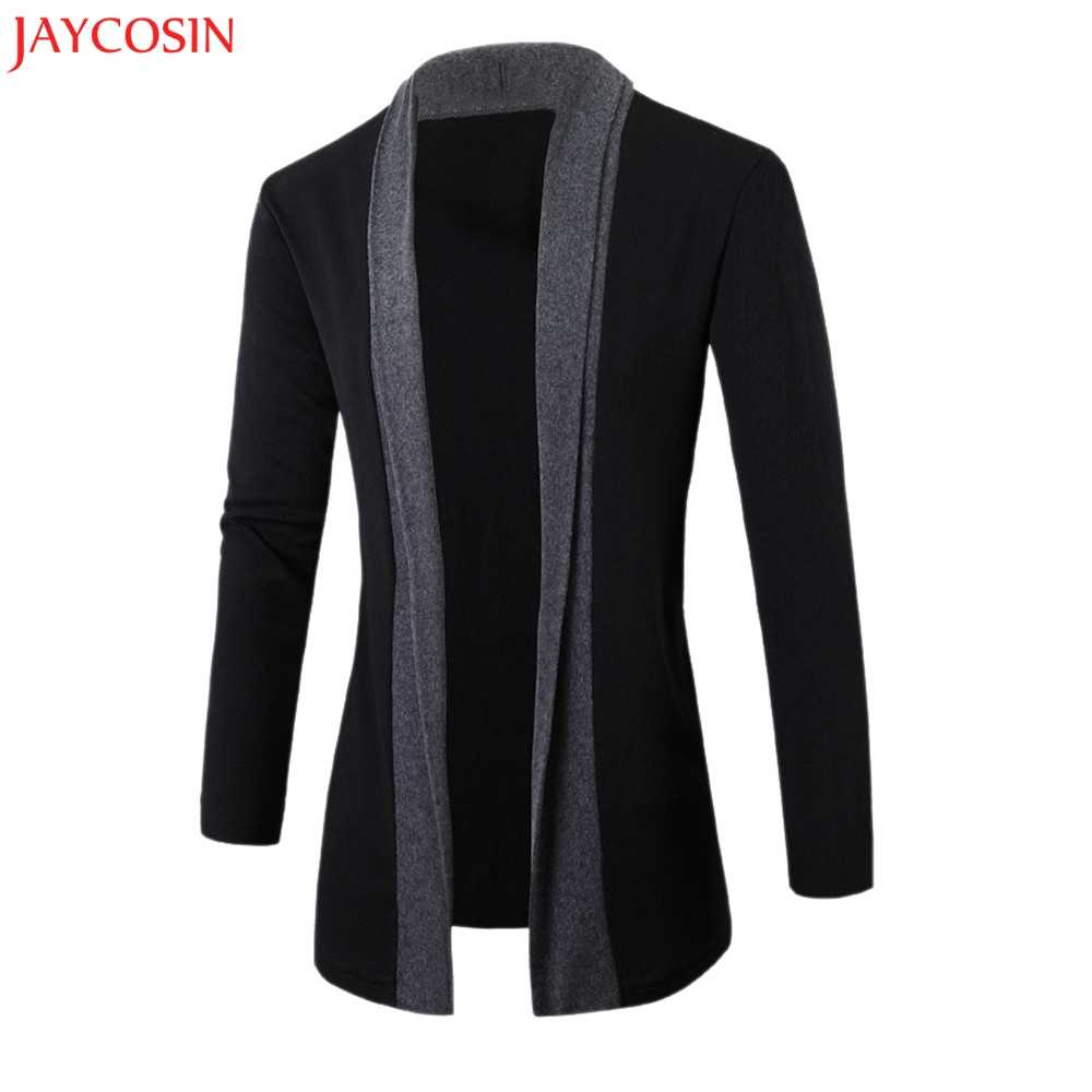 JAYCOSIN スタイリッシュなメンズファッションカーディガンジャケットスリム長袖カジュアルコート z1122