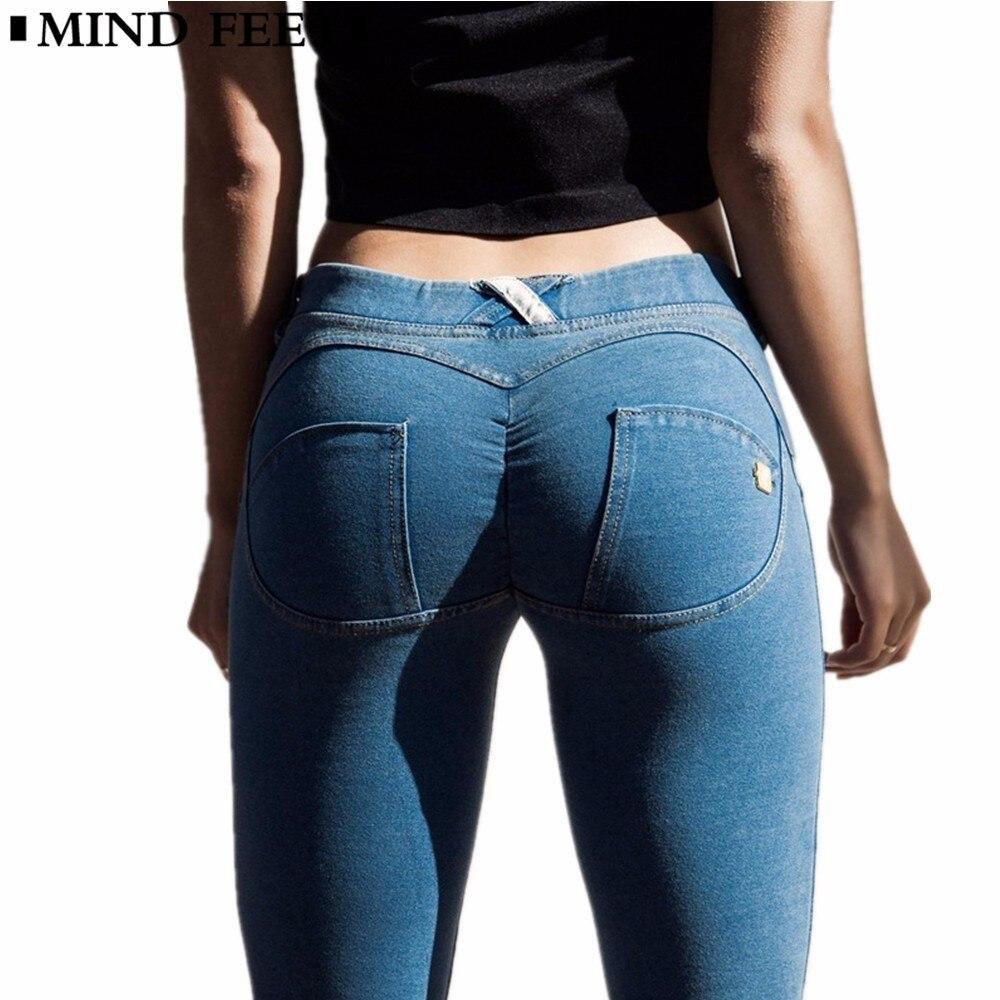 MIND FEET Peach Lift Hips Women   Jeans   Skinny Silica Gel Non-slip High Elastic Slim Fitness Pencil   Jeans   For Women Casual Autumn