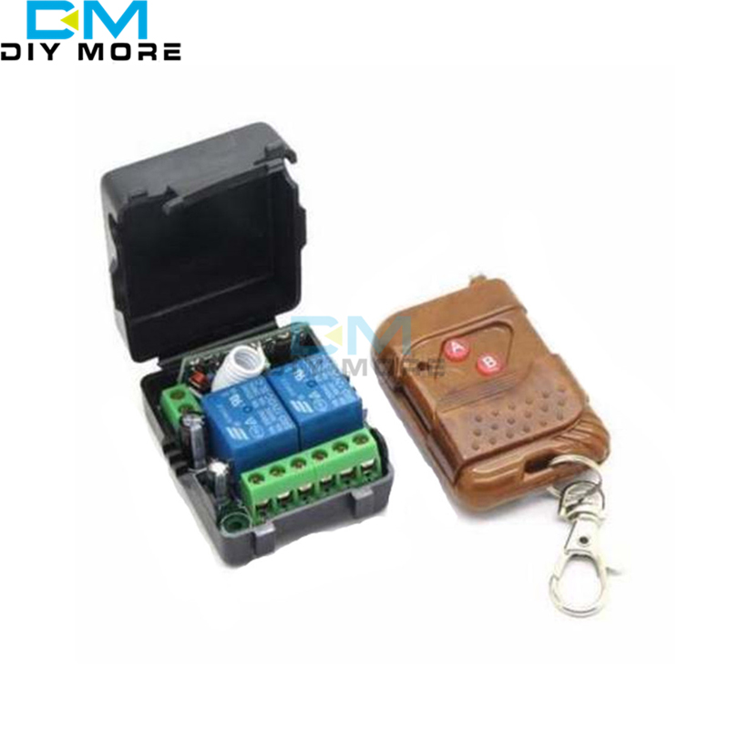 DC 12V 2CH Channel Wireless RF Remote Control Switch Transmitter+ Receiver Relay