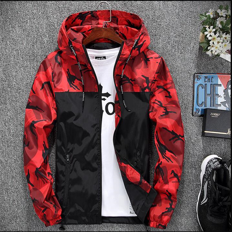 HTB18pwan1uSBuNjSsziq6zq8pXag 2019 Men's wear casual camouflage jacket. of Slim handsome spring autumn casual solid color large size baseball clothes