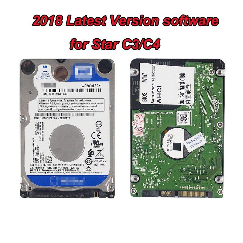 12/2018 HDD программного обеспечения для мб звезды C4 SD подключения c4, подходит для MB STAR c5, доступных для mb star c3 с полностью функции программного об...