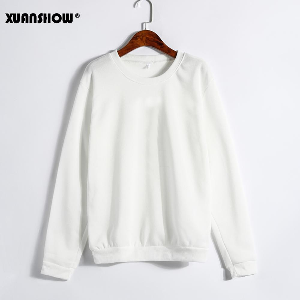 Solid Sweatshirts White Color In Stock,9Black/Gray MOQ 100pcs/Retail Unavailable)