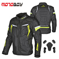 MOTOBOY J21 waterproof men motocross jacket with Removable warm lining,motobiker clothes Oxford moto coat S M L XL 2XL 3XL 4XL