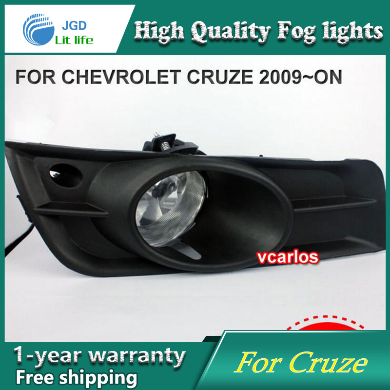 2PCS / Pair Halogen Fog Light For Chevrolet Cruze 2009 High Power Halogen Fog Lamp Auto DRL Lighting Halogen Headlamp хромовые накладки для авто dongzhen auto chevrolet cruze 2009 4