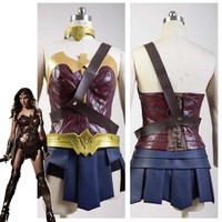 Deluxe Justice League Wonder Woman Cosplay Costumes Movie Halloween Carnival New Year For Adult Women Headwear