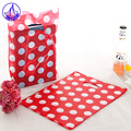 15*20cm Wedding Plastic Gift Bags With Handle 100pcs/lot Plastic Pouches For Boutique Christmas Gift Handle Bags  H028