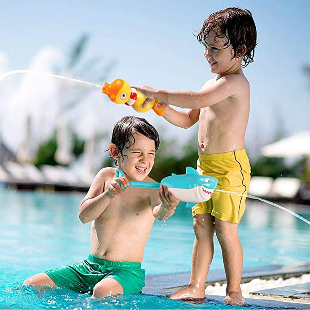 2pcs/Set Animal Spray Water Gun Outdoor Games Children Blaster Water Gun Toy Kids Beach Squirt Toy Pistol Spray Water Gun Toys