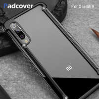 PADCOVER Original Airbag Metal Case for Xiaomi Mi9 9se Metal Bumper 360 full Protective Personality Cover for Xiaomi Mi 9