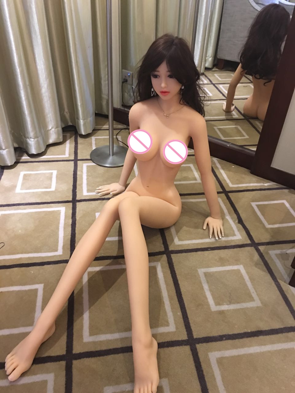все цены на Life Size Japanese Style Lifelike Realistic Real silicone sex dolls  Adult toys for men love doll Medical TPE with skeleton в интернете