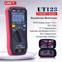 UNI-T Mini multimètre numérique UT123 gamme automatique ca tension cc ohmmètre testeur de température NCV/Test de continuité EBTN écran couleur