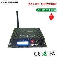 DHL Fedex Free Shipping 7PCS DC9 12v LCD Wireless DMX512 Receiver Transmitter Dmx Controller