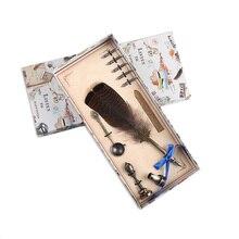 European Retro Feather Pen Set Advertising Creative Fountain Teachers Day Birthday Gift Beautiful Writing Tools +5 nibs